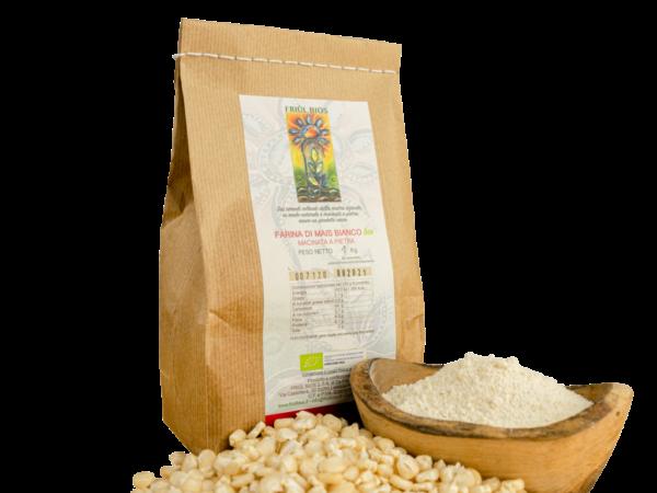 Farina di mais bianco bio